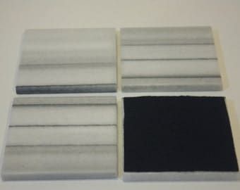 4 inch Marble Mink Drink Coasters,1 set of four