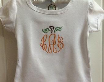 Pumpkin Initials Monogrammed Ruffle Shirt
