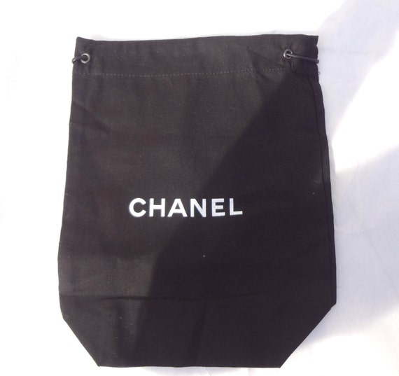 vintage authentic chanel x small black dust bag for wallets