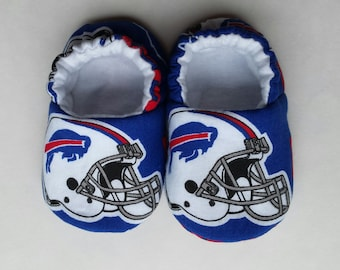 READY TO SHIP - Buffalo Bills baby shoes, baby slippers, crib shoes - size 1 (0-3 months)