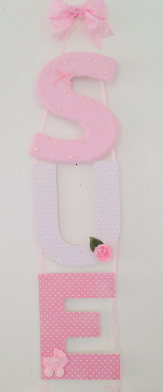 Baby boy girl custom nursery letters letter wall decor for Baby room decoration letters