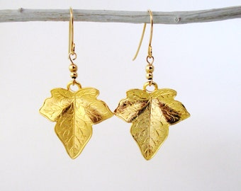 Gold leaf earrings, Leaf earrings, Leaf earrings gold, Gold earrings,Gold dangle earrings,Dangle earrings gold,Dangle earrings,Earrings gold