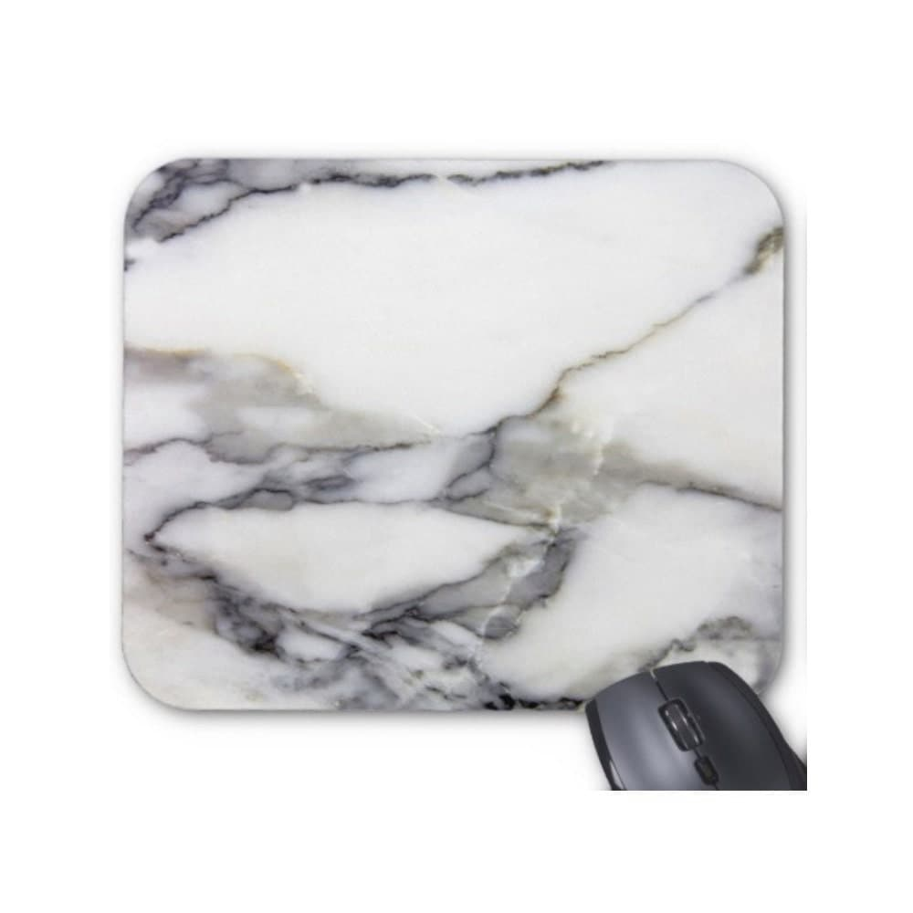Gray White Veined Marble Bathrooms: Gray & White Faux Marble Mouse Pad Grey Stone Veined/Marbled