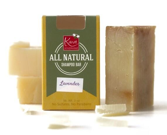 Bar soap on hair