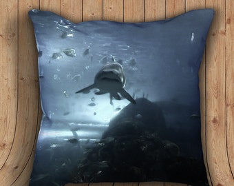 Shark Pillow -001 - with stuffing