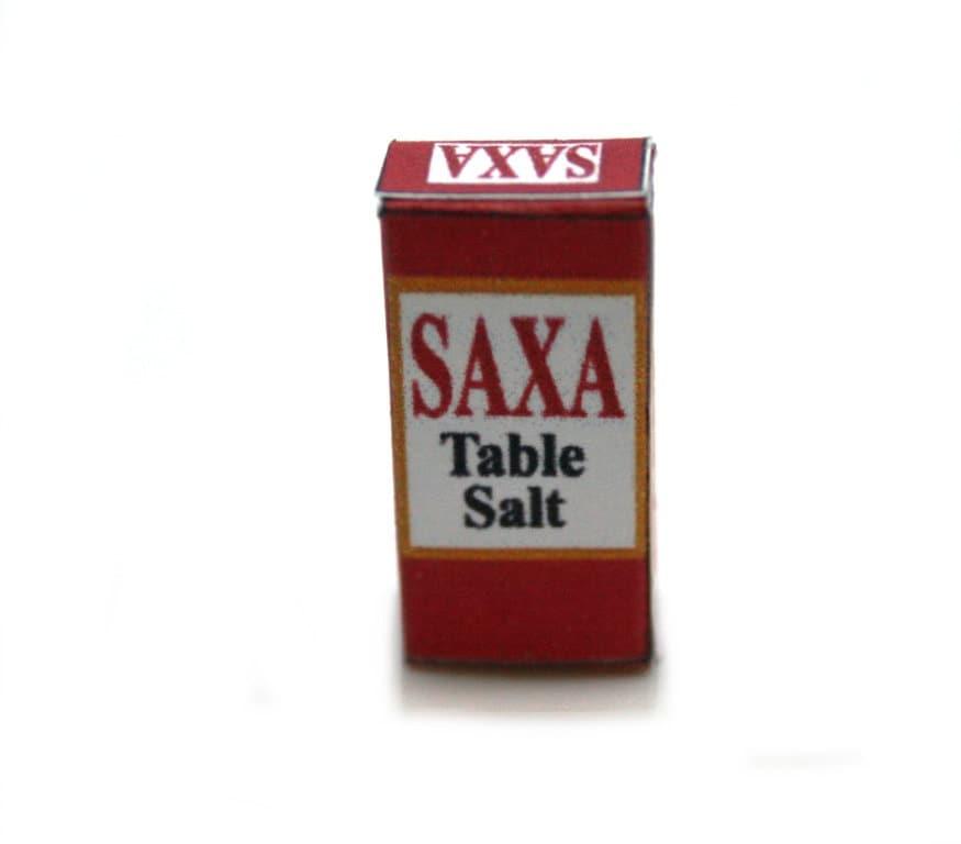 saxa table salt box dolls house miniature
