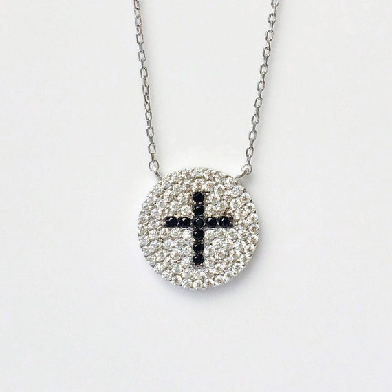 cross necklace sterling silver
