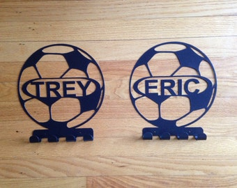 Metal Personalized Name Soccer Medal Holder
