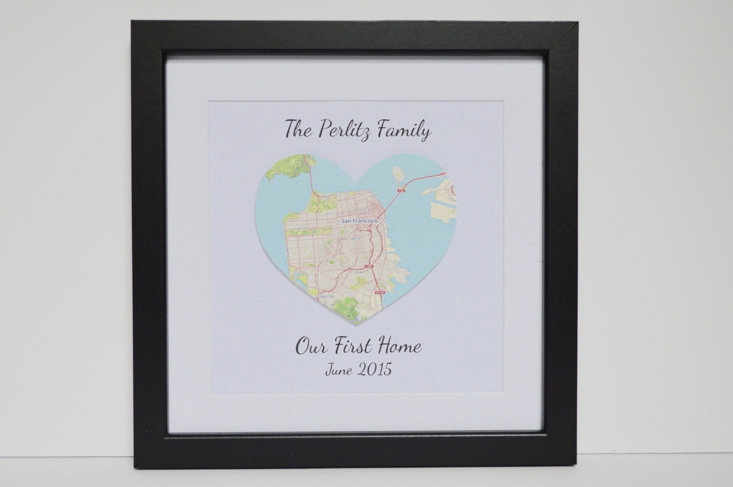 First Home Gift Housewarming Present Map Of By