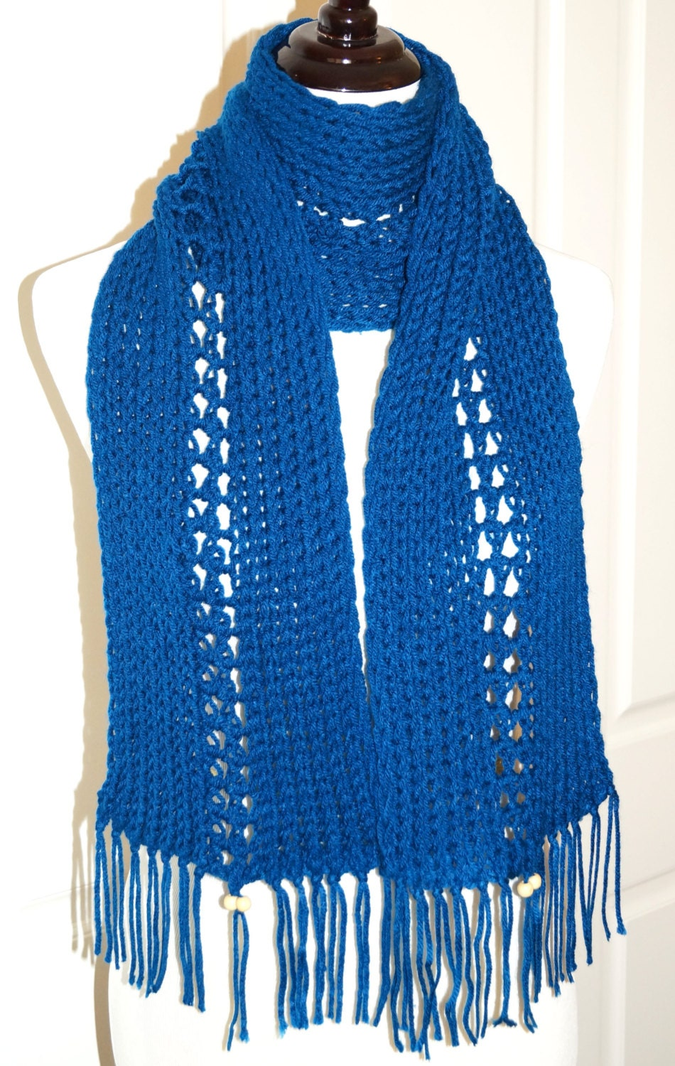 Knitting Loom Scarf Fringe : Loom knit scarf by FamAffairDesigns on Etsy