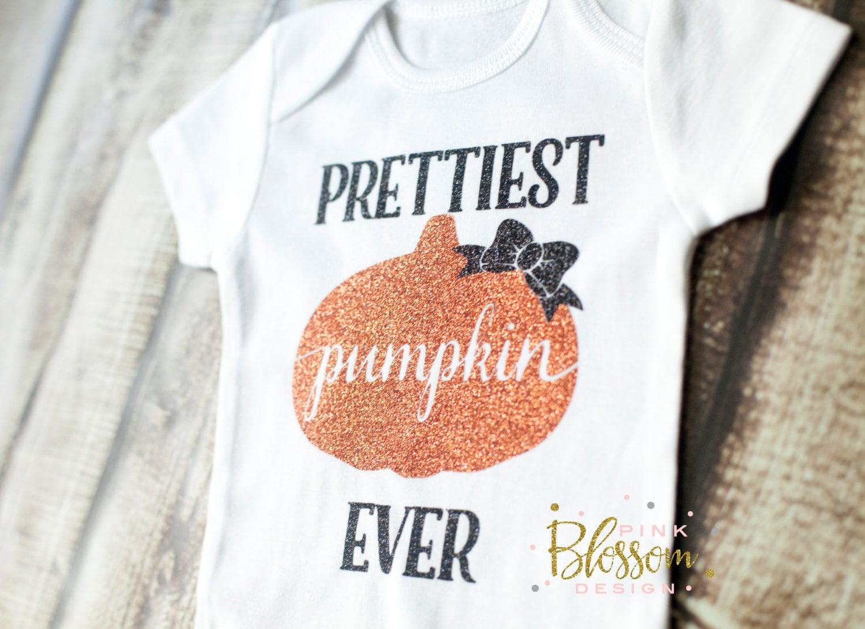 baby first halloween halloween outfit halloween onesie prettiest pumpkin ever halloween costume fall halloween cutest pumpkin