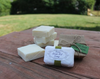 Homemade Pure Organic Olive Oil Soap, Castille, All Natural Moisturizing Soap