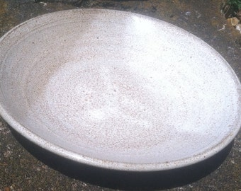 White Glazed Terracotta Plate