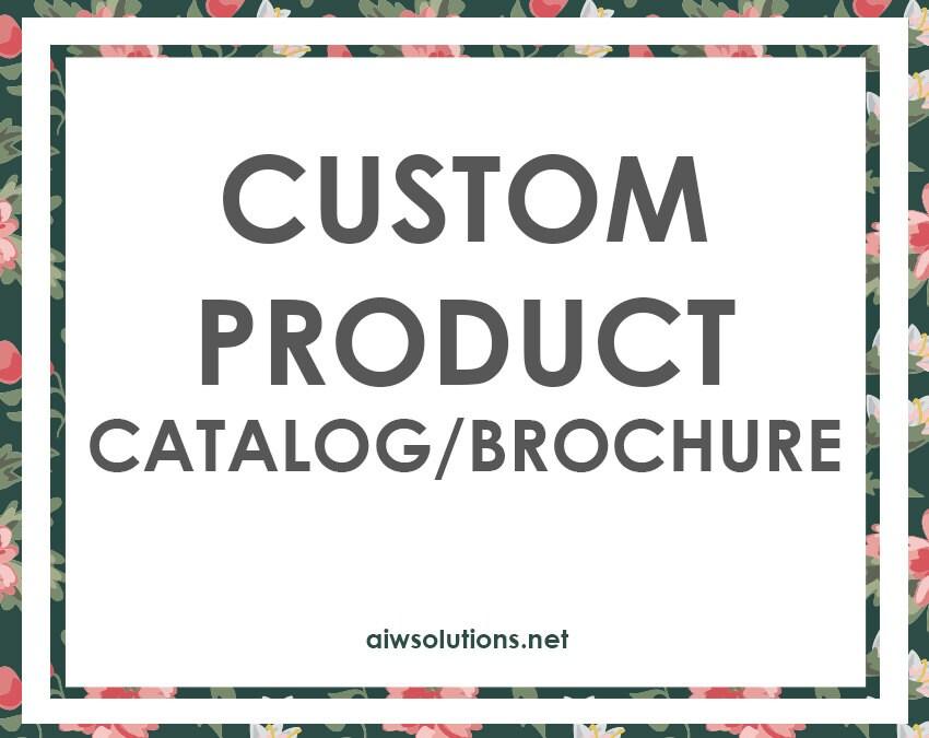 custom product catalogue custom line sheet printing