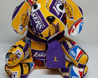 L A Lakers Stuffed Puppy