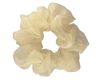 Scrunchies Ivory Organza Ponytail Holder (Free Shipping) Hair Accessories Made in USA