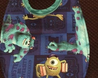 Baby Bib Monsters Inc. Fabric Print