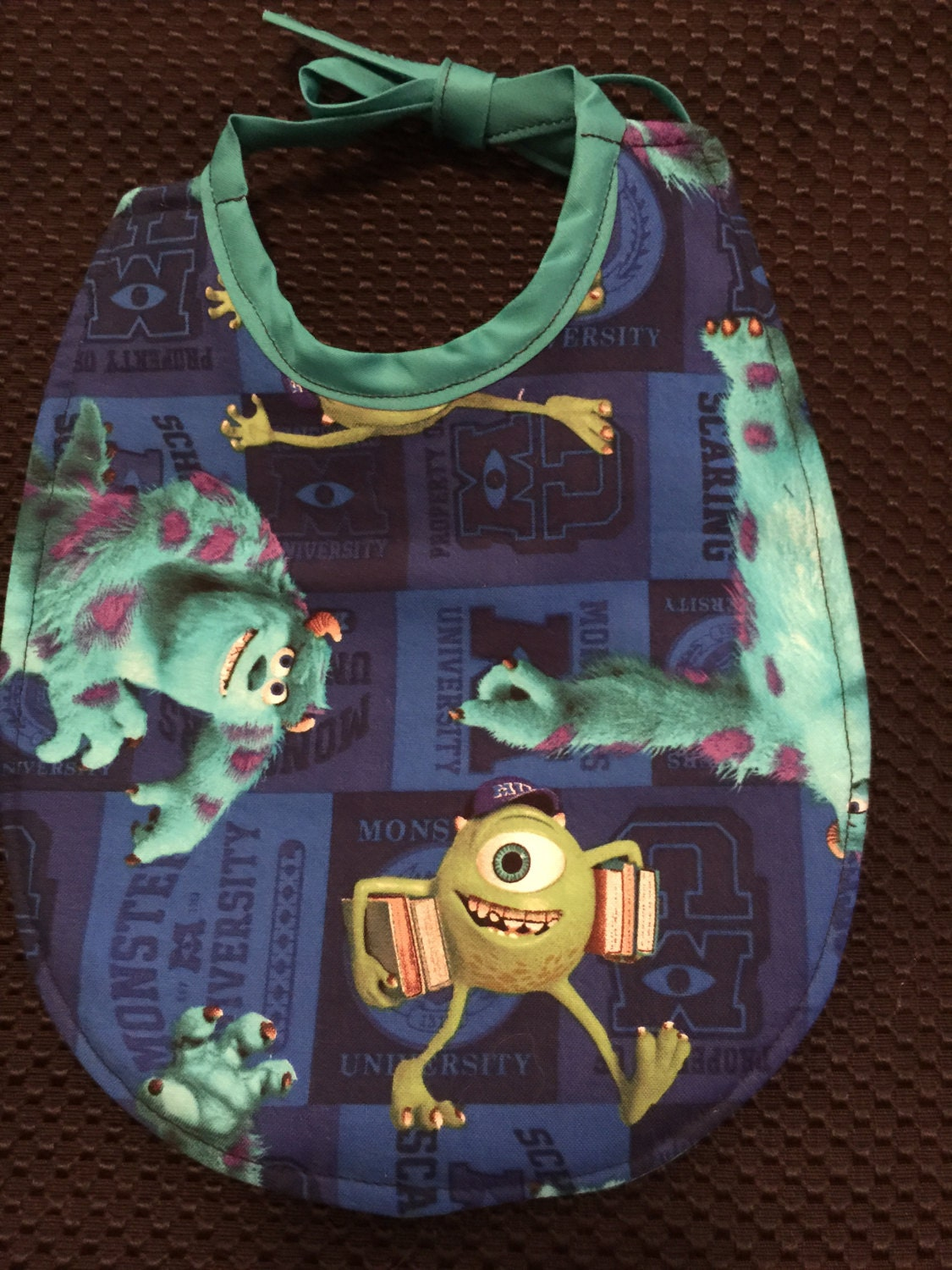 Baby bib monsters inc fabric print for Baby monster fabric