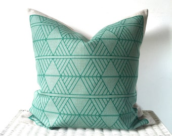 Mint cushion cover, scandi mint cushion, scandi pillow, geo mint cushion cover, mint throw pillow, kids cushion
