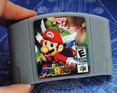 N64 Cart Soap: Retro and geeky! Handmade parody cartridge soap - Mario