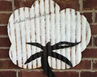 Corrugated Metal/Tin COTTON BOLL