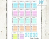 DIY Checklist Planner Stickers | PDF Stickers Download suitable for Erin Condren, Plumpaper Weekly Planners