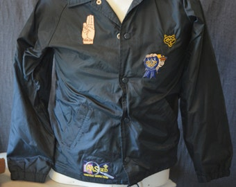 Vintage Children's Boy Scout Jacket with Patches (Size: Large)