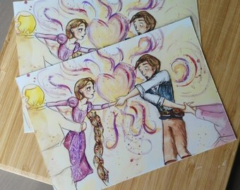 Kingdom Dance/ Tangled Watercolor Print