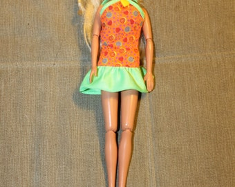 Vintage Barbie Doll w Short Dress Included, Long Blonde Hair, 1993, Mattel, Barbie Clothing, Doll, Barbie Fashion, All Parts Movable, NICE