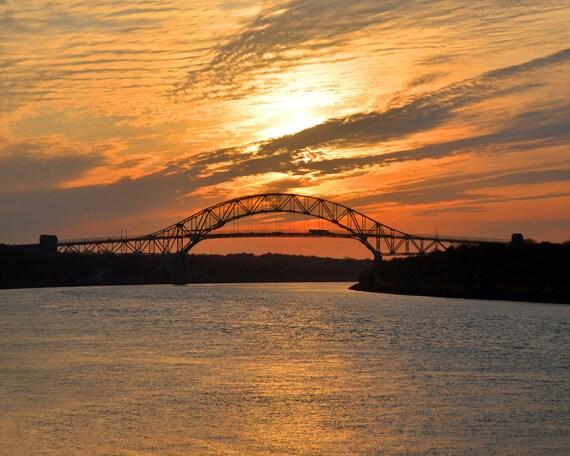 Sagamore Bridge Sunset Fine Art Photography Wall Photo Print