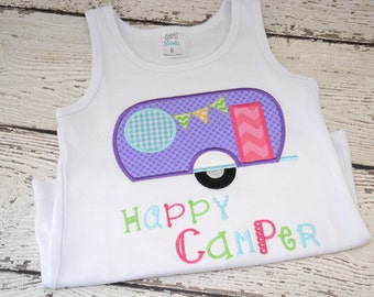 Camper Shirt, Summer Shirt, Camp Shirt, Girls Camp Shirt, Girls Summer Shirt, Summer Tank Top, Personalized Tank Top