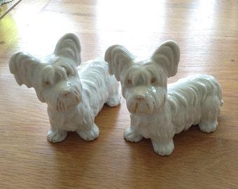 White china dogs