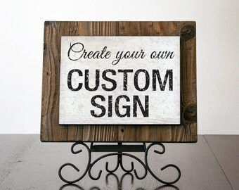 Custom Signs with Rustic Wood. Rustic Signs. Rustic Signs. Office Signs. Personalized Wood Signs. Restaurant Signs. Farmhouse Decor. 10x8