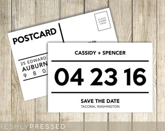 Custom Save The Date Postcard Invitation