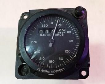 Vintage Superior Labs SLI Military Navy Airplane/Aircraft Range & Bearing Indicator