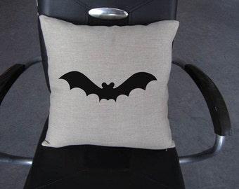 Bat Halloween pillow cover on Canvas