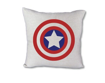 Captain America Superhero pillow cover on Canvas