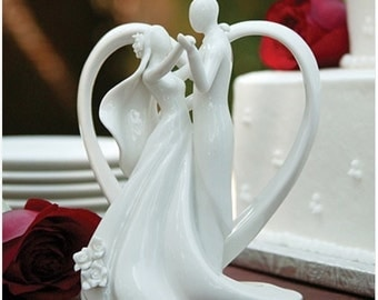 Porcelain Dancing Couple Wedding Cake Topper