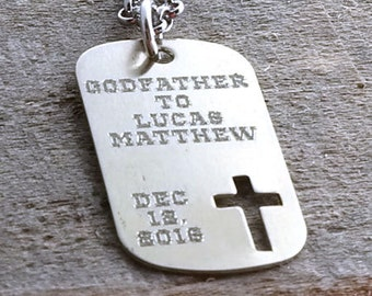 Godfather Personalized Necklace - Engraved Gift
