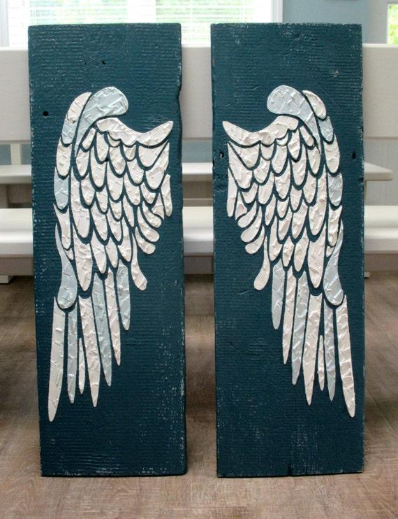 Angel wing wall decor wings large angel wings carved angel for Angel wings wall decoration uk