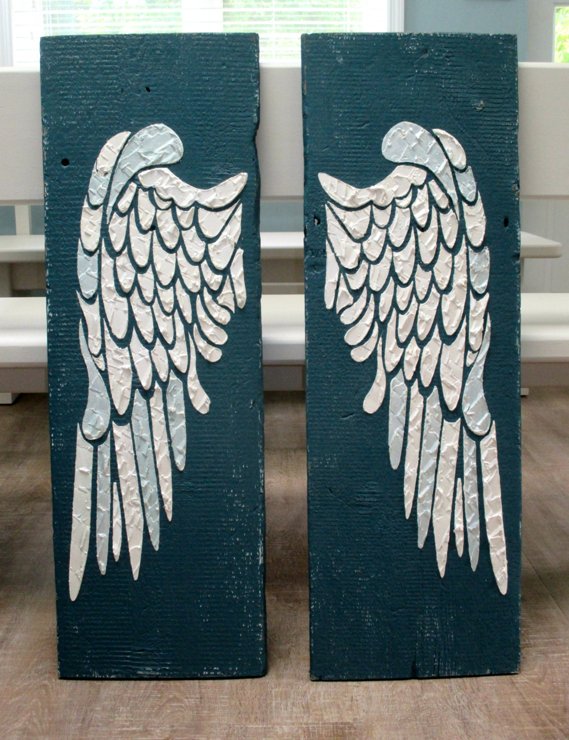 Angel wing wall decor wings large angel wings carved angel for Angel wall decoration