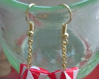 Origami paper earring