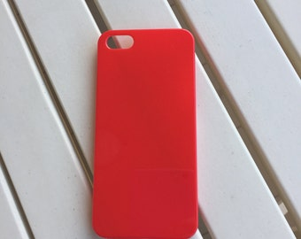 DIY Network for iphone 5/5s plastic hard case. for bling deco phone and decoden. Red hard plastic shell