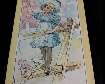 Victorian Domestic Sewing Machine Folding Trade Card