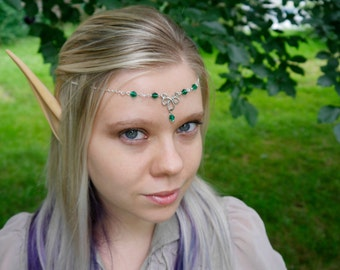 Medieval Renaissance Celtic Elves Hobbit tiara Crown headband tiara headpiece