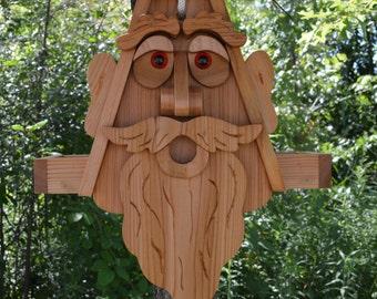 Large Ent Cedar Bird Feeder with Plexiglass and Rope / King Bird Feeder / Old Man Bird Feeder / Face Bird Feeder / Cedar Bird Feeder / Gnome