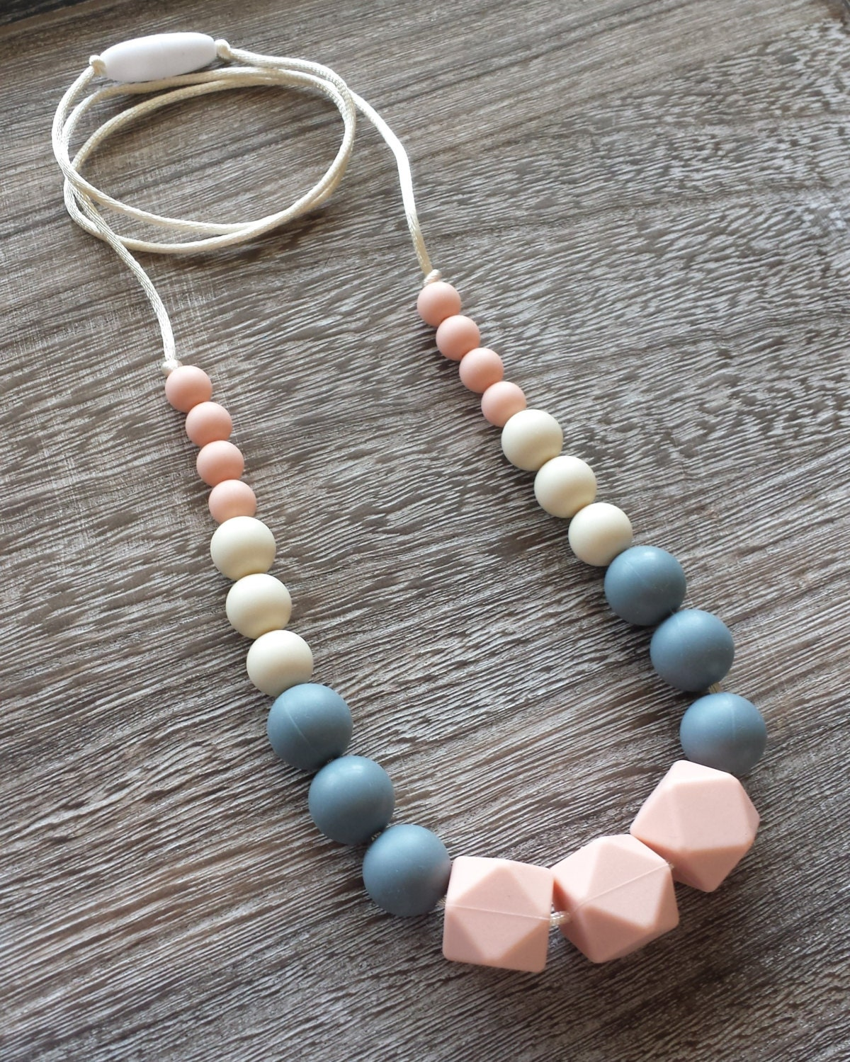 silicone teething necklace silicone nursing necklace pink