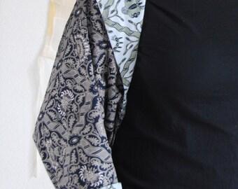 Indonesian batik reversible shrug