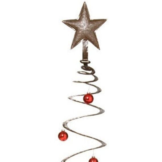 "Spiral Christmas Tree, Recycled Steel, Haiti Metal Wall Art 23.5"" x 60"""