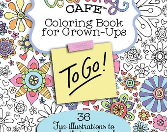 The Coloring Cafe™ To Go! A Travel size Coloring Book for Grown-Ups-Volume One